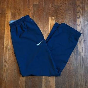 Nike dry-fit woven training pants in dark blue